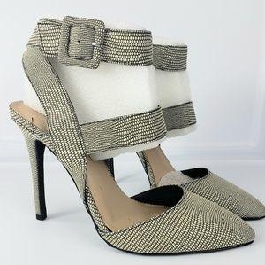 Snake skin design high heels